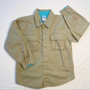 Old Navy olive green 4T long sleeve boys shirt